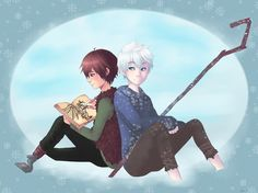 Jack Frost and Hiccup- Drawing with good company by AlexDasMaster.deviantart.com on @deviantART