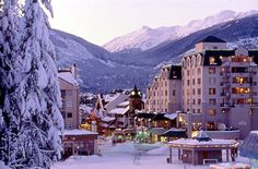 Absolutely heaven in Whistler village!  This picture is the exact memory that I have of Whistler when I was growing up in Vancouver!  Love it!