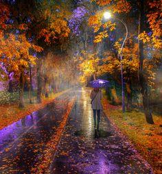 дождь в осеннем парке... - Санкт-Петербург