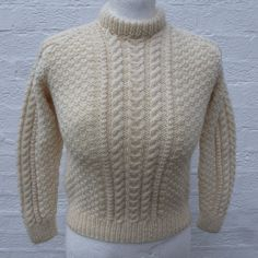 Chunky jumper small fisherman sweater clothing by Regathered