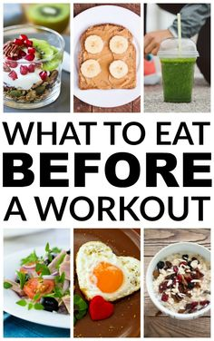 Many people have a hard time figuring what to eat before a workout and some even wonder whether they should eat at all. Forgoing food before exercising can actually be quite dangerous but there are certain healthy snacks that offer just the right amount Clean Eating Snacks, Healthy Snacks, Healthy Eating, Healthy Recipes, Snacks Recipes, Healthy Protein, Healthy Weight, Healthy Tips, Diet Recipes