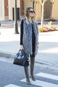 Faux Fur Vest Little Blonde Book waysify