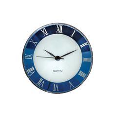 1-1/2-Inch Blue Roman Mini Clock Insert