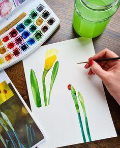 Watercolor daffodils by Studio Sonate Daffodils, Watercolor, Studio, Illustration, Prints, Instagram, Design, Pen And Wash, Watercolor Painting