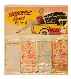 Marilyn Monroe ~ Monroe Scent for Cars, 1950s.