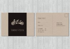 Printable RSVP Postcard  Biciclette by mikiodesign on Etsy, $15.00