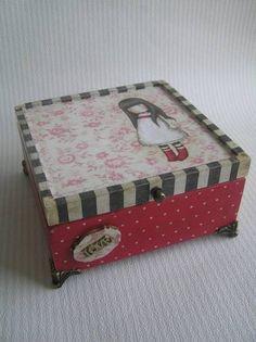 Decoupage. Gorjuss doboz. Több kép itt: www.hobbikucko.atw.hu