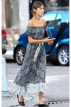 Alexa Chung is in good company with the other famous faces to rock this season's off-the-shoulder trend