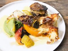 Argentine chef and grill-master Francis Mallmann pairs smoky grilled calamaretti with rich avocado, spicy pimenton oil, and charred tomatoes in this elegant summer dish. Saveur Recipes, Ham Recipes, Avocado Recipes, Seafood Recipes, Healthy Recipes, Easter Recipes, Baking Recipes, Recipies, Francis Mallman