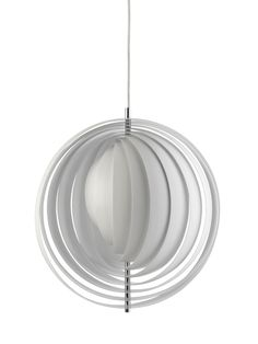 Discover the best moon pendant light 34 cm products on Dwell Modern Light Fixtures, Modern Lighting, Lighting Design, Large Lamps, Curve Design, White Light, Pantone, Interior Decorating, Interior Design