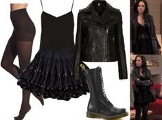 """REQUESTED: Jade West's final outfit in, """"The Worst Couple."""" • Cami • Skirt • Jacket • Tights • Boots"""