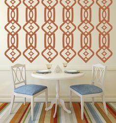 Geometric Columns - Hollywood Regency Decor