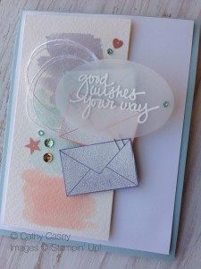 We love this card made with the Lovely Amazing You stamp set!