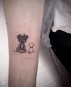 The most adorable tattoo idea. A little girl and her puppy patiently waiting. The most adorable tattoo idea. A little girl and her puppy patiently waiting. The most adorable tattoo idea. Mini Tattoos, Baby Tattoos, Family Tattoos, Trendy Tattoos, Cute Tattoos, Beautiful Tattoos, Body Art Tattoos, Small Tattoos, Tattoos For Guys