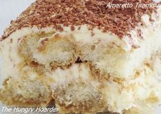 Tiramisu Amaretto Tiramisu Instead of buying birthday gifts for my family members I make them a dish and dessert of their choice My oldest daughter requested this for he. Just Desserts, Delicious Desserts, Dessert Recipes, Yummy Food, Amaretto Tiramisu, Yummy Treats, Sweet Treats, How Sweet Eats, Christmas Desserts