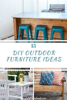 15 DIY Patio Furniture Projects For Your Outdoor Space - Diy Furniture Ideas Diy Furniture Redo, Diy Outdoor Furniture, Repurposed Furniture, Furniture Projects, Wood Projects, Outdoor Projects, Garden Furniture, Diy Picnic Table, Diy Home Decor Projects