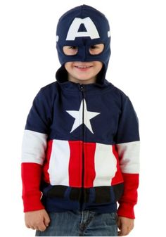 Get America back on track with our Toddler Captain America Costume Hoodie! If anybody can assist the USA, it's this little guy!