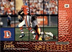 1996 Select - Artist's Proofs #64 Terrell Davis Back