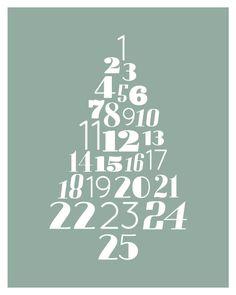 Christmas Advent - Countdown Tree