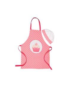 Simpático y original regalo para los pequeños chef de casa. Compuesto por un delantal y gorro de cocina en tonos blanco y rosa. Compara ahora y recíbelo en 24h.