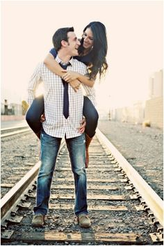 Train tracks go good with any occasion...but they are perfect for engagement pics!