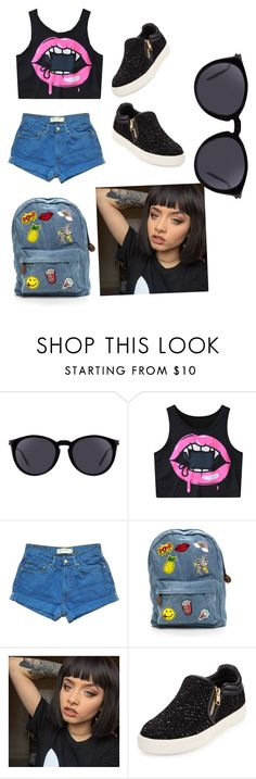 """school's first day"" by pallavi-parihar ❤ liked on Polyvore featuring Yves Saint Laurent, Levi's and Ash"
