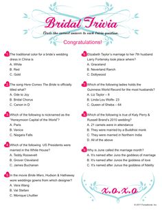 bridal shower game idea
