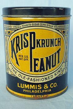 Vintage Krisp Krunch Peanut Tin 1 lb. - $15
