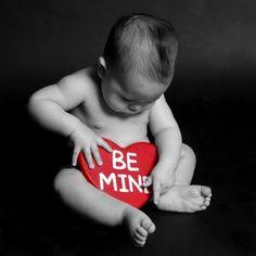 Idee voor als je baby op Valentijnsdag is geboren.