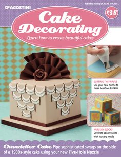 In this weeks issue of #CakeDecorating we show you how to use your new Nozzle to make Seashore #Cookies. Decorate square cakes with nursery motifs, ideal for a #babyshower. All this plus a new #FREE Five-Hole Nozzle!