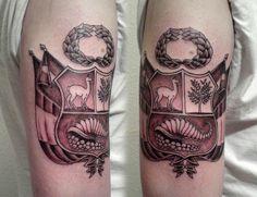 Escudo del Perú Peru Tattoo, Wiccan, Inca Empire, Tattoo Addiction, Architecture Tattoo, Types Of Art, Cool Tattoos, Tatoos, Sleeve Tattoos