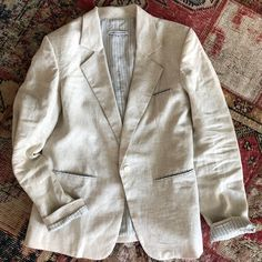 Love love the CH blazer in natural linen and hand loom stripe lining. Classic is forever! #chblazer #linenblazer #naturallinen #handloomstripe #ethicalluxurybrand The Ch, Linen Blazer, Natural Linen, Luxury Branding, Loom, Classic, Jackets, Men, Instagram