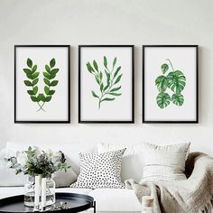 Spring Green Fresh Leaf Watercolor Print Art Canvas Poster Picture Wall Modern Minimalist Flower Painting Home Decoration