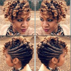 Try This Fabulous Flat Twist Updo for a classy style for medium to long natural hair
