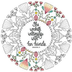 Proverbs 3126 27 Free Coloring Page a gift for mom GIFTS