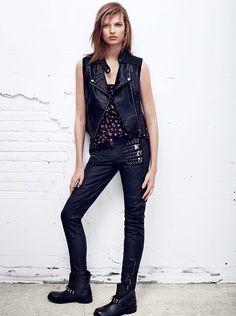 Women's Fashion Edgy Rocker Style Punk Looks Mango 2013