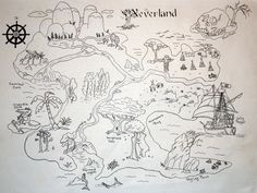 Neverland | I drew this map for the Summer Kids Camp. I prin… | Flickr