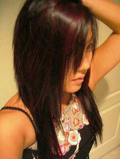 burgundy highlights :)