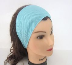 New Wicking Mesh Knit Stretchy headband/ Yoga by SewInBoutique