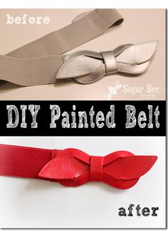 yes, you can paint a belt - it worked!!  here's the how-to