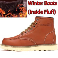 SURGUT Brand Waterproof Men's Ankle Boots Winter Keep Warm Boots Fashion Snow Fur Boots Mens Shoes Western Motorcycle Boots Mens Motorcycle Boots, Mens Ankle Boots, Combat Boots, Warm Boots, Winter Boots, Keep Warm, Fashion Boots, Men's Shoes, High Top Sneakers