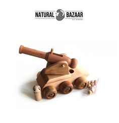 t32_Wooden Cannon+Tank / Finished by Hand, Eco from Natural Bazaar by DaWanda.com