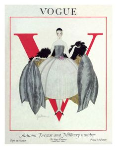 Vogue Cover - September 1920 by Georges Lepape