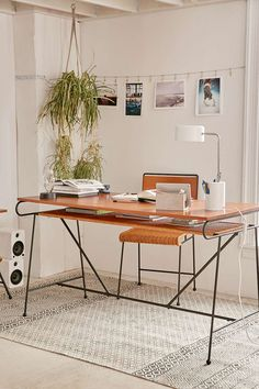 Shop Ryerson Desk at Urban Outfitters today. We carry all the latest styles, colors and brands for you to choose from right here. Home Office Design, Home Office Decor, Office Ideas, Studio Furniture, Modern Furniture, Music Furniture, Studio Desk, Eclectic Furniture, Furniture Decor