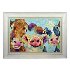 Barnyard Selfie Framed Art Print | Kirklands