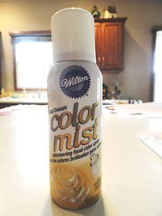 Wilton Color Mist - spray onto food! #golden #birthday
