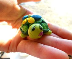 clay turtle - face