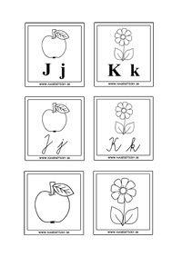 Vyrobte si kartičky s písmenkami a obrázkami, ktoré pomôžu škôlkárom a prváčikom pri spoznávaní tlačených a písaných písmeniek.