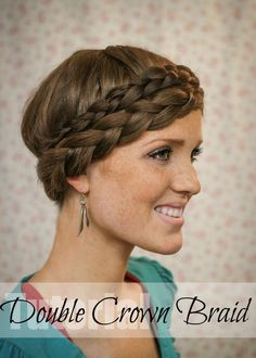 Double #CrownBraid #Braid - via @thefreckledfox #Hairstyle