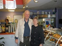 David Hartman of Good Morning America fame and Wendy hanging out in the morning.